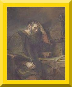 """""""Saint Paul the Apostle"""" -- by Rembrandt- PD-Art-1923"""