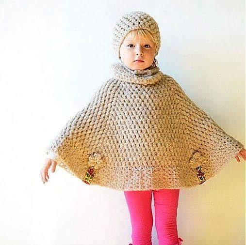 Ponchos em Crochê Fáceis de Fazer