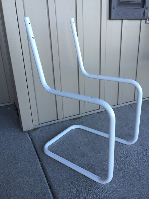metal chair frame after powder coating