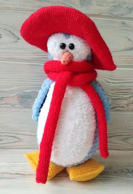 вязаный пингвин крючком