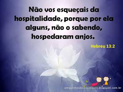 Versículo - hebreus 13:2