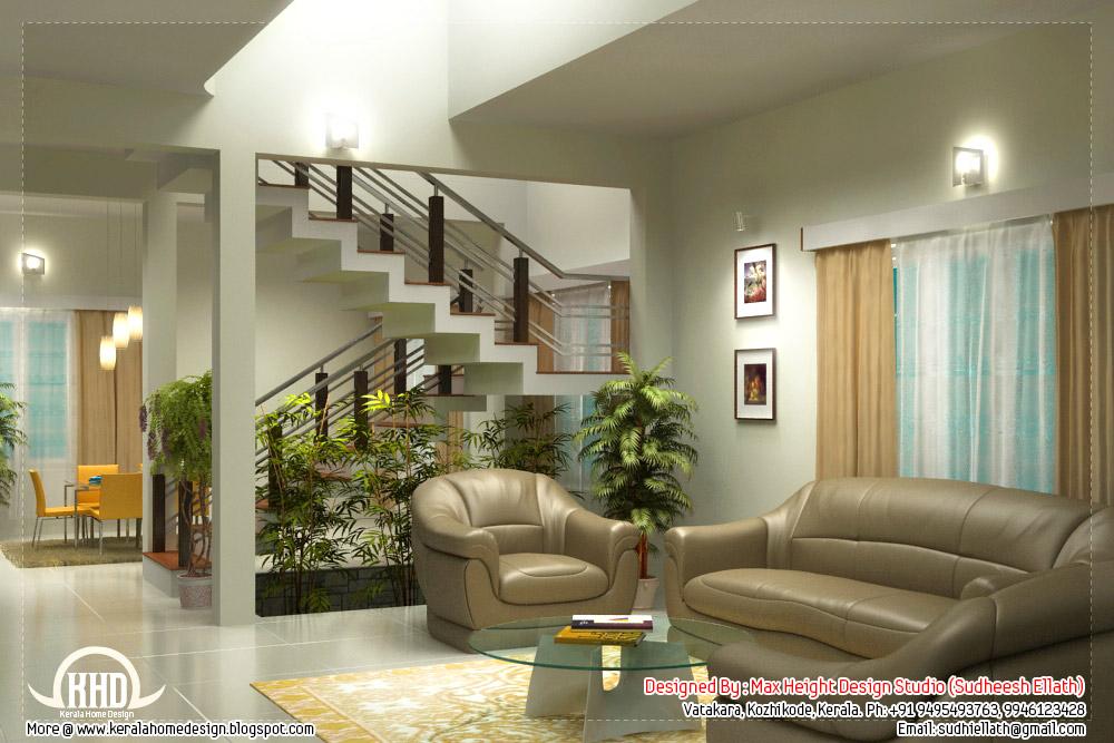 Beautiful living room rendering | Kerala House Design