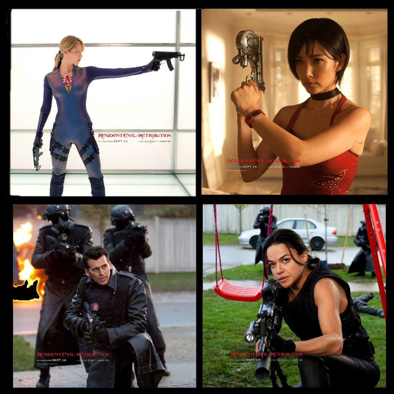 Resident Evil Retribution Shares Two New Hotties With Guns Pics