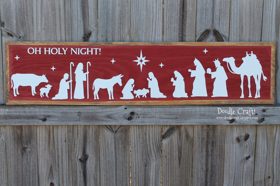 Top Doodlecraft: Oh Holy Night Christmas Nativity Sign! ID46