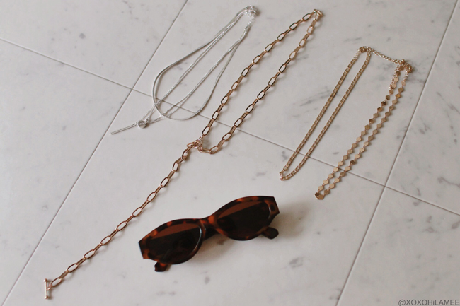 Japanese Fashion Blogger,MizuhoK,2019,New in May and June forever21 necklace,sunglasses
