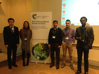 Students from the Geochemistry Group attending the conference