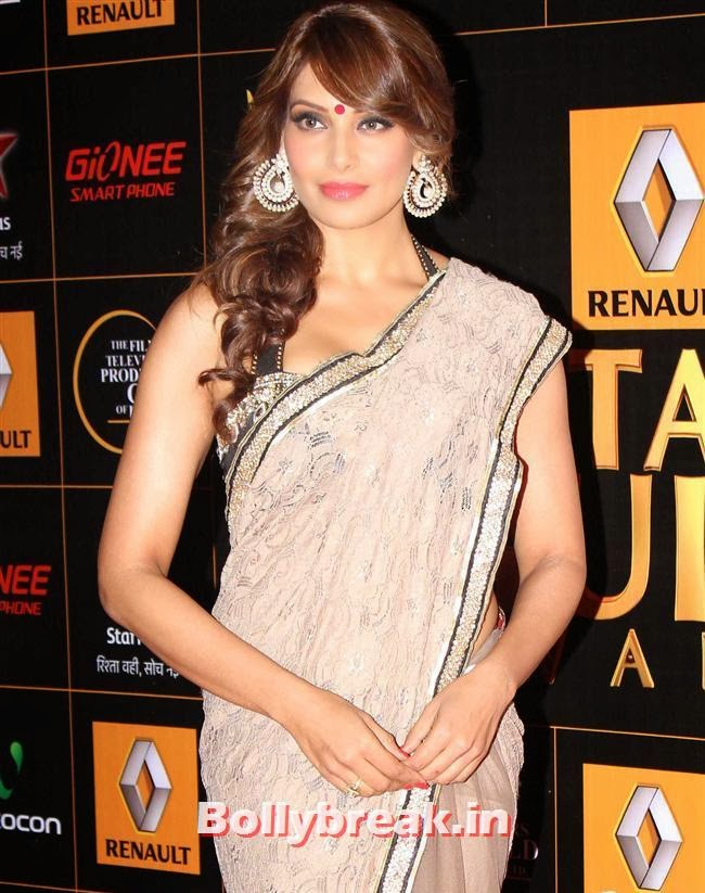 Bipasha Basu in Saree, Star Guild Awards 2014 Pics