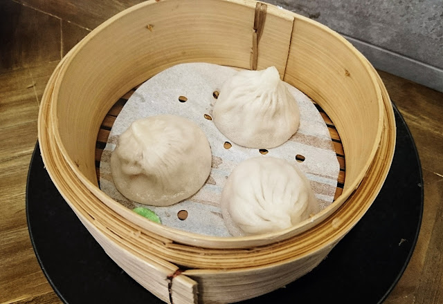 Modu, Clayton, crab pork xiao long bao