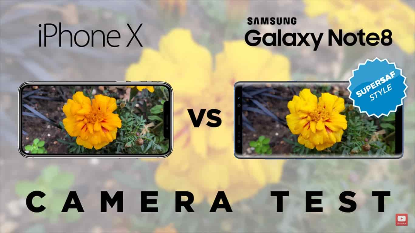 Check out camera comparison between the newly launched iPhone X & Galaxy Note 8...