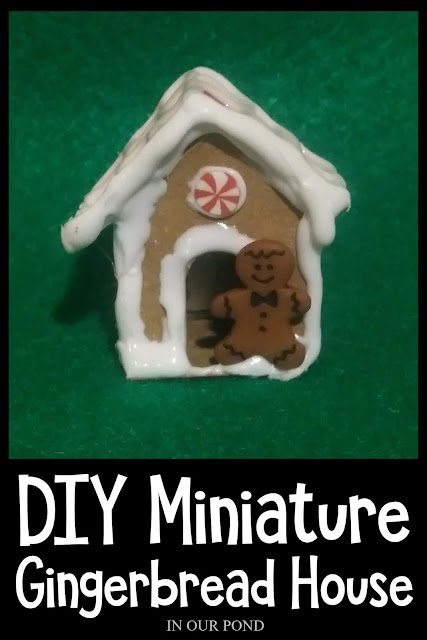 Easy Paperboard Gingerbread House // DIY Mini Christmas Decorations for Dolls and Elves // In Our Pond // 1:6 scale // Barbie dollhouse // Doll Crafting