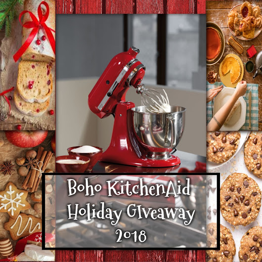 Boho KitchenAid Holiday Giveaway 2018 and Cranberry Zucchini Muffins | What's Cookin' Italian Style Cuisine