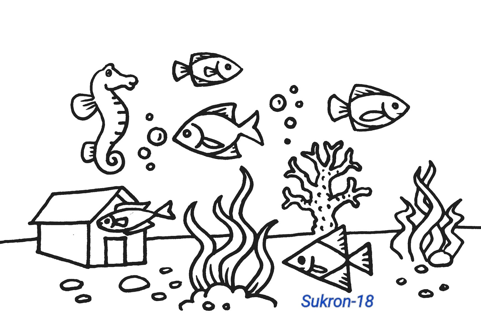 Download 52 Gambar Mewarna Ikan Laut Terbaru Gambar Ikan