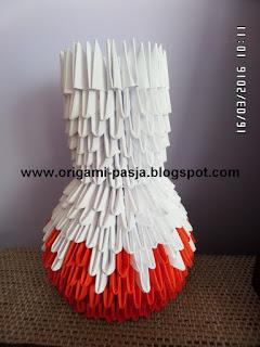 wazon sztuczny, z papieru, klej , vicol,