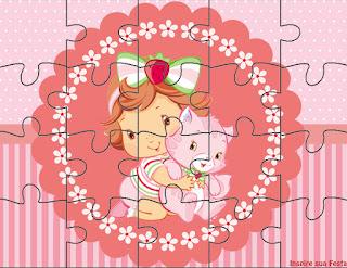 Imprimibles de Fiesta de Strawberry Shortcake Bebé para imprimir gratis.