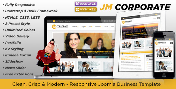 JM Corporate – Themeforest Responsive Joomla Business Template ...