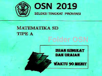 Soal OSN Matematika SD 2019 Tingkat Provinsi