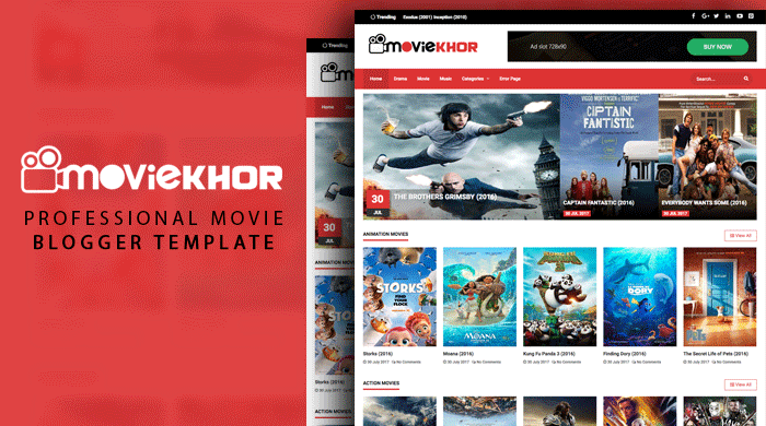 Movie - Professional Movie Blogger Template