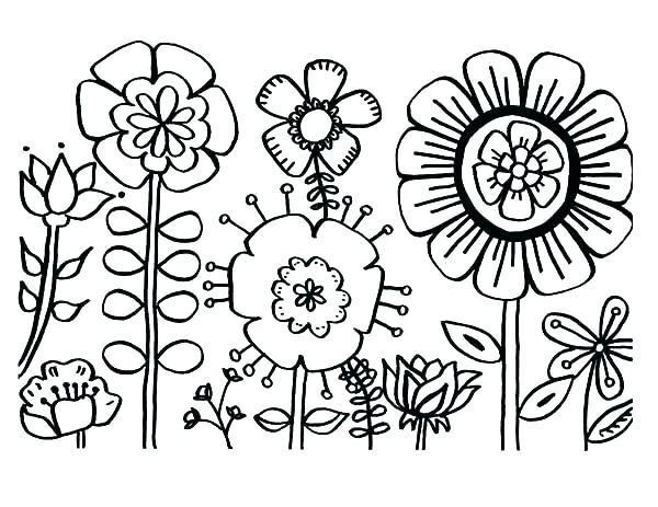 صور الزهور والورود للتلوين