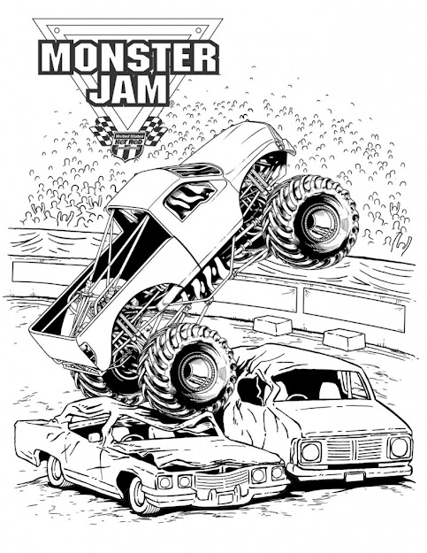 Monster Truck Coloring Pages Httpgiveawaybanditadvance