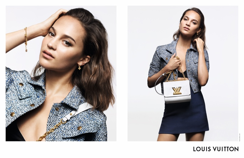 Alicia Vikander fronts Louis Vuitton handbag campaign with the Twist style