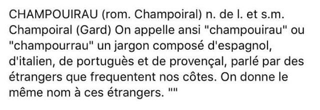 Chapurriau en lo seu origen signifique mescla de llengües