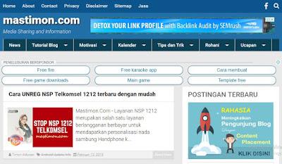Situs Belajar Ngeblog mastimon