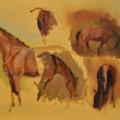 Laura Barber-Riley- Equestrian Artist: First horse life painting of 2013- bit rusty!