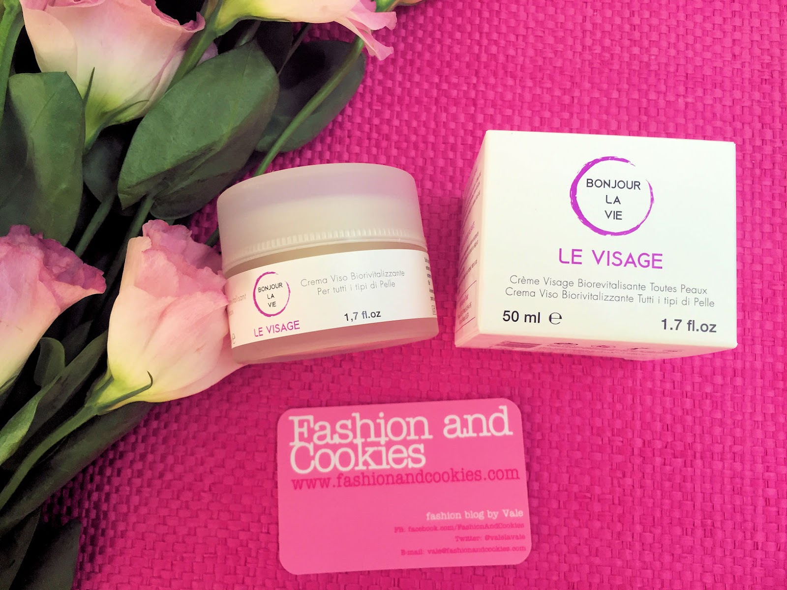 Bonjour La Vie Skincare natural products crema viso biorivitalizzante su Fashion and Cookies beauty blog, beauty blogger