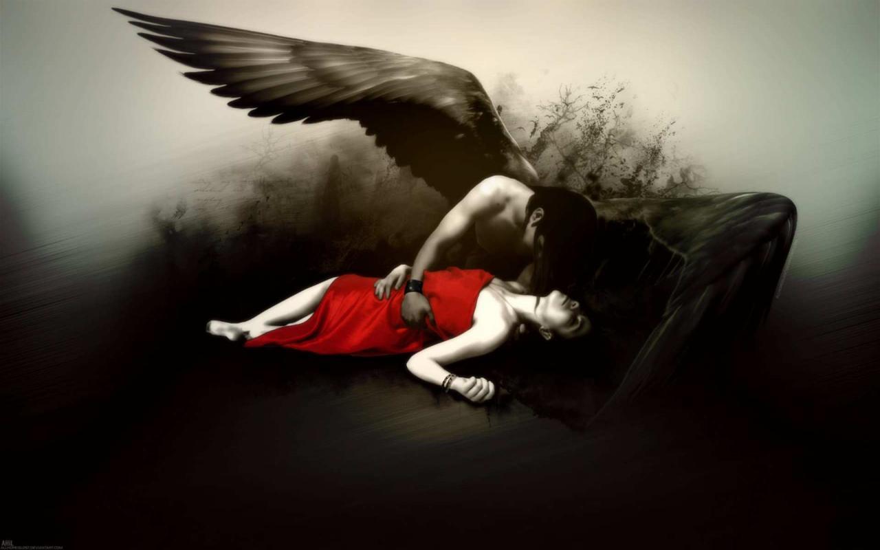 scary image of angel - photo #9