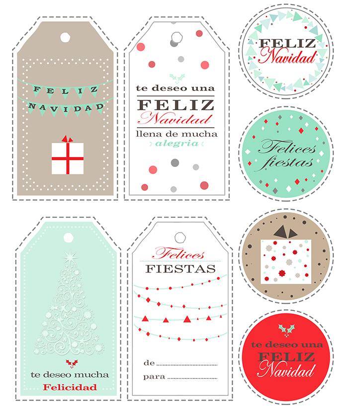 No Solo DIY: 8 etiquetas para tus regalos de Navidad (Imprimibles)