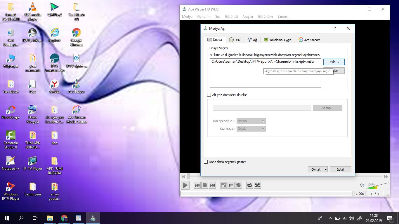 iptv tekno shop: ACE Player İle İPTV Linkı Açma Resimli Anlatim
