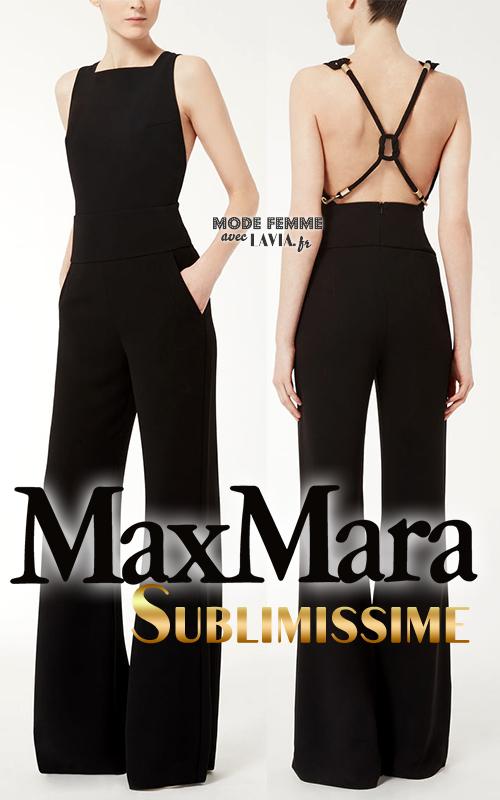 Combinaison pantalon noire élégante Max Mara