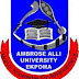 AAU Ekpoma Diploma Admission Form for 2018/2019 Session