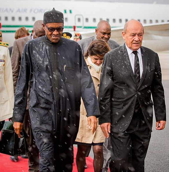 buhari reception france