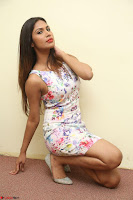 Nishi Ganda stunning cute in Flower Print short dress at Tick Tack Movie Press Meet March 2017 099.JPG