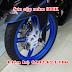 Sơn bánh mâm xe Exciter 150 màu trắng xanh cực đẹp