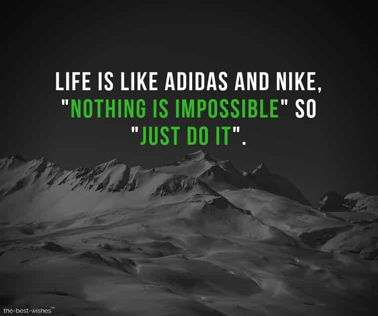 Motivational Quotes Image with Nike and Adidas