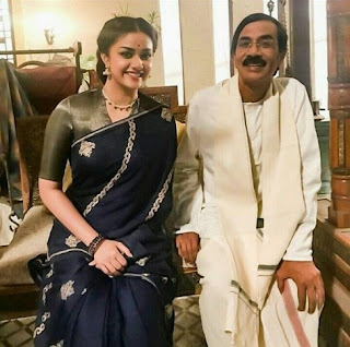 Keerthy Suresh with Manobalam Sir in Mahanati