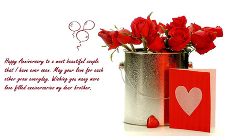 Happy Wedding Anniversary Wishes | Quotes | Messages & Images for Brother - Sister In Law