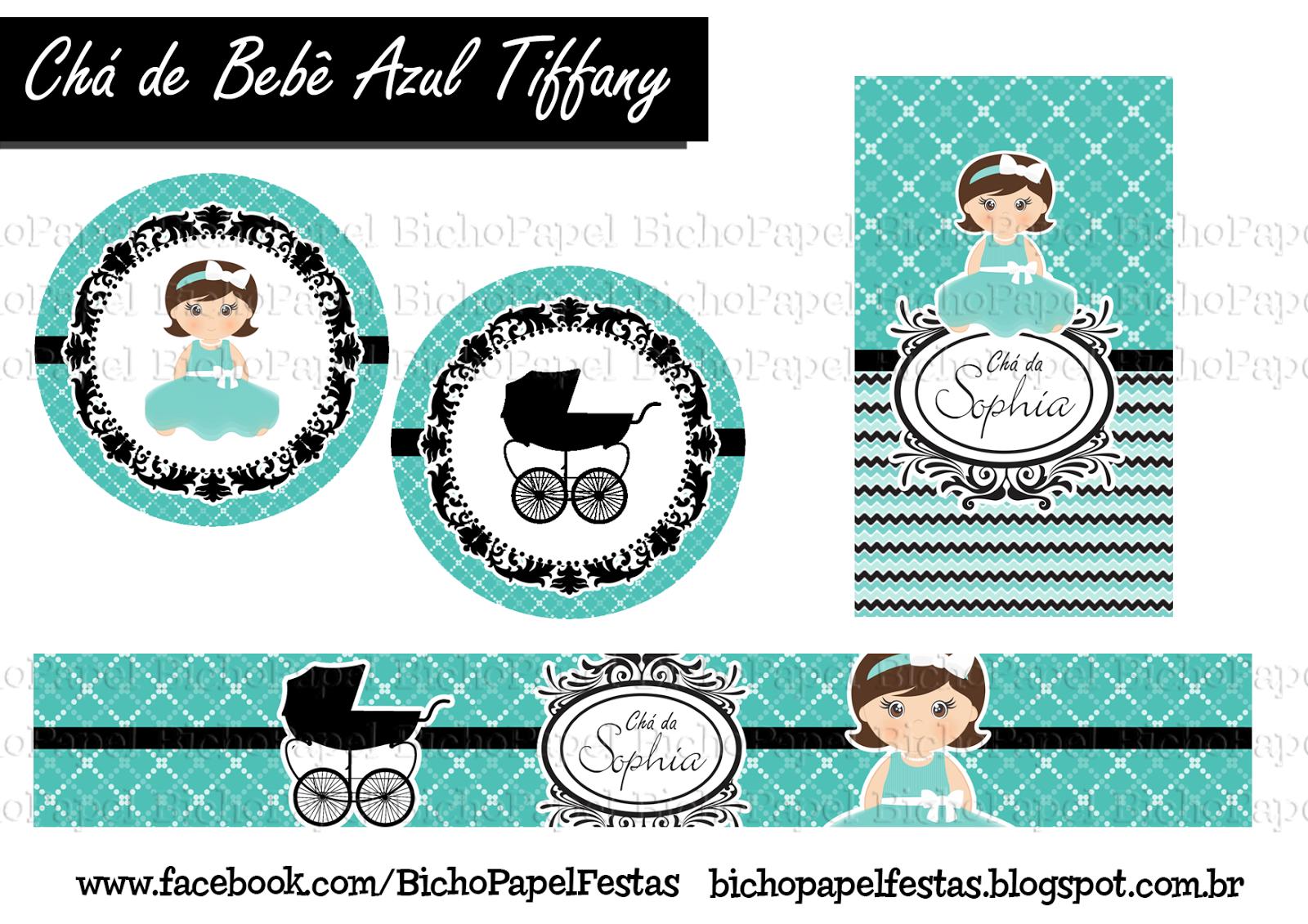 Kit Chá de Bebê Azul Tiffany