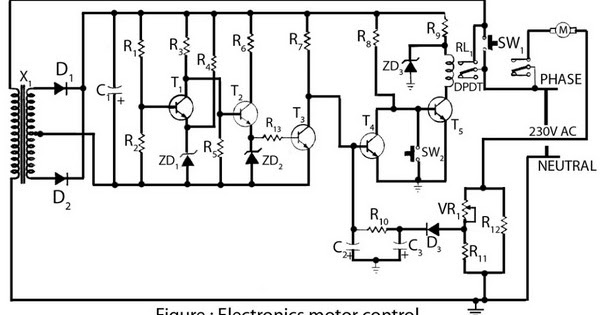 circuit schematic electronics motor controller based on