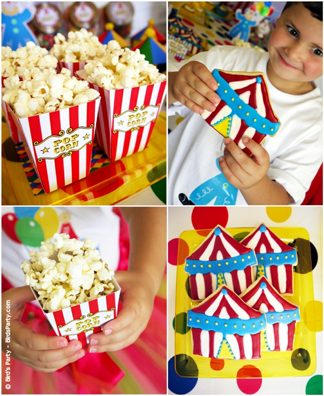Big Top Circus Carnival Inspired Birthday Party Ideas and Printables Cookies