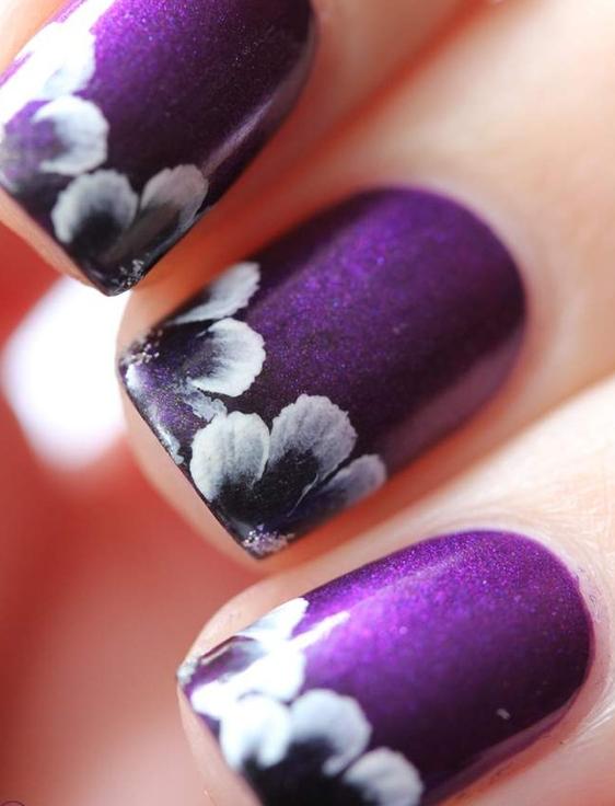 HD Wallpapers | Desktop Wallpapers 1080p: Purple Nail Art ...