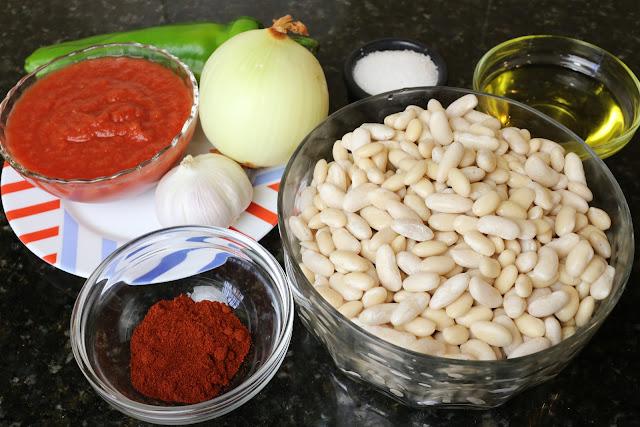Ingredientes para potaje de alubias blancas