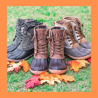 fall, monogram, duck boots, quilted, heathered