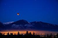 Lunar Eclipse seen over Bitterroot Mountains