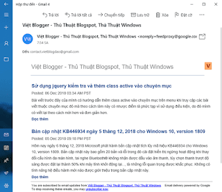Tùy biến bố cục thư thông báo từ nguồn cấp FeedBurner