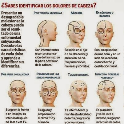 Conoce Las Causas De Dolor De Cabeza Y on tension headache location chart