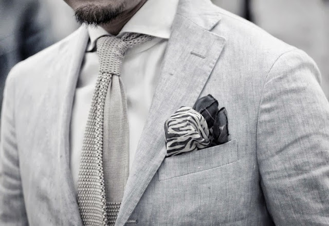 classic mixed patterns pocket square