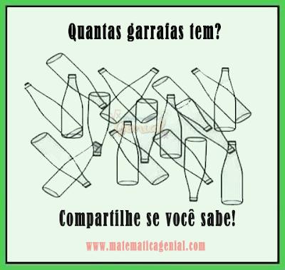 Teste de visão - Quantas garrafas tem na imagem?